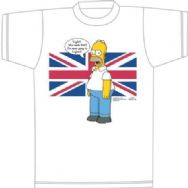 Simpsons T-Shirt English Homer Simpson